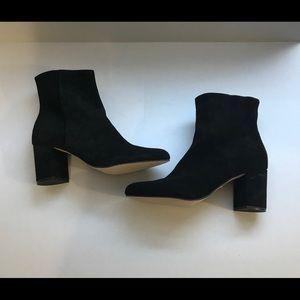 Corso Como Black Suede Ankle Boots  3 inch heel